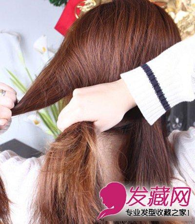 编发教程 > 韩式优雅盘发发型大全 鱼骨辫编发有气质(5)  导读:步骤四