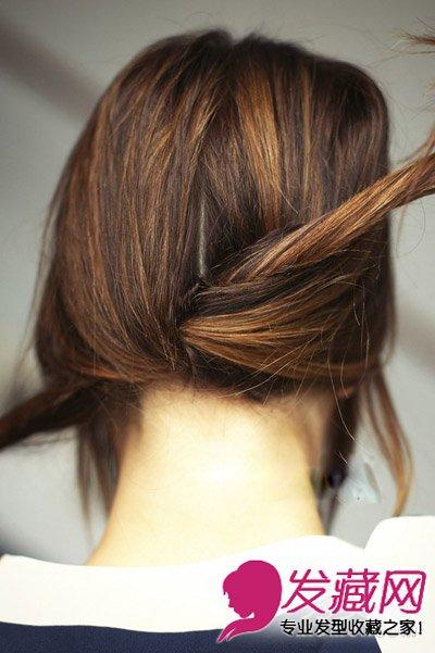【图】炎炎夏日长发怎么扎 好看的拧编发型(7)_编发