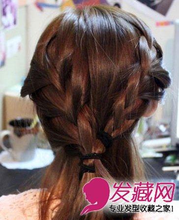 淑女气质发型韩式编发盘发图解(6)