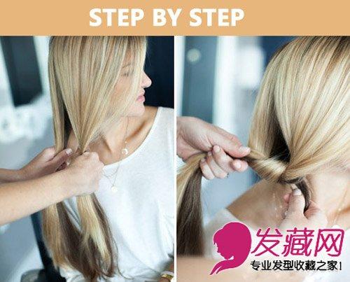 编发教程 > 半扎发 花环编发发型 尽显简约欧美风(3)       扎发步骤