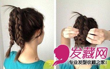 直发发型扎法 超简单花苞头盘发图解