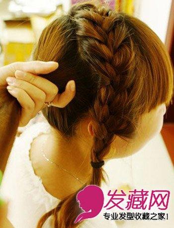 下半部头发扎马尾,简单好看的女生发型扎法步骤.