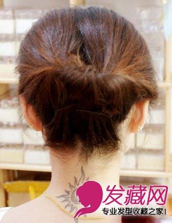 发型网 发型diy 编发教程 > 简单搞定清爽发型 中长发盘发技巧(3)图片