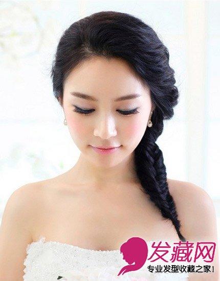 韩系唯美新娘高贵盘发发型 绽放优雅魅力(5)