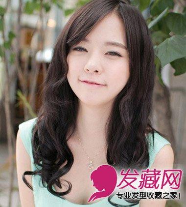 长发发型 > 韩式长发烫发 轻灵感长卷发尽显清纯气质(3)  导读:斜刘海图片