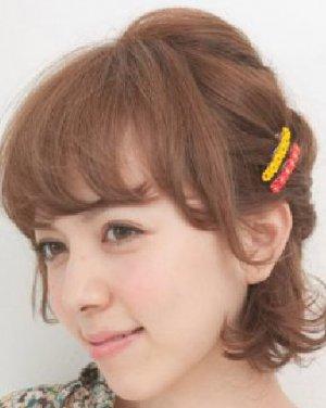 2015最新韩式短发扎发