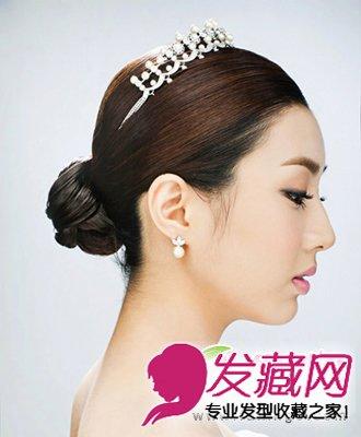 优雅韩式新娘发型 经典盘发更迷人