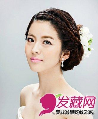 优雅韩式新娘发型 盘发发型精致小巧(3)