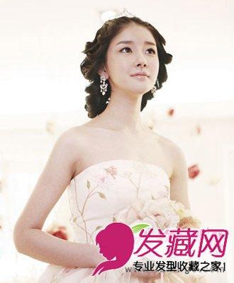 优雅韩式新娘发型 盘发发型精致小巧(6)