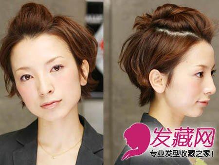 发型网 女生发型 女生短发发型 > 超级女生短发发型扎发 简单不失时尚
