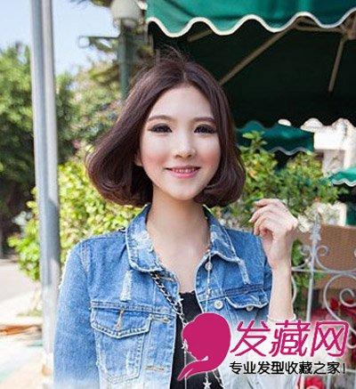 荷叶头减龄短烫发 好看女生短发减龄不止(2)