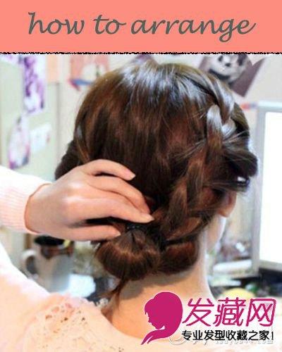 韩式编发公主头发型 清甜扎发萌妹必学 →唯美风韩式新娘盘发图片步骤