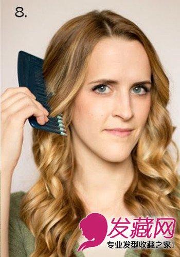 直发变卷发diy教程 用梳直长长的秀发(7)图片