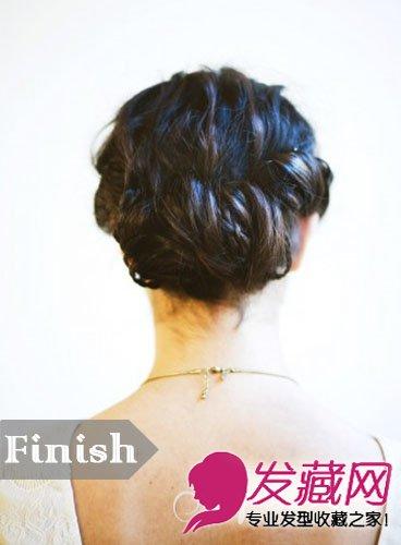 盘发轻便普通的款式 适互助为新娘发型(8)图片