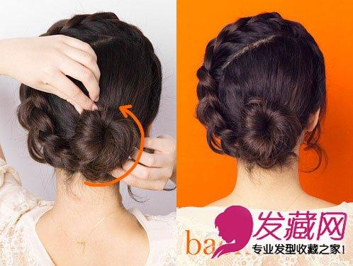 清凉减龄新意花苞头盘发发型(3)图片