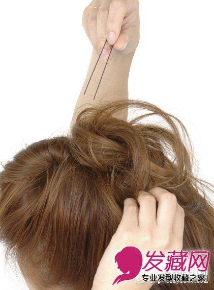 清新头顶蓬松发型步骤图七