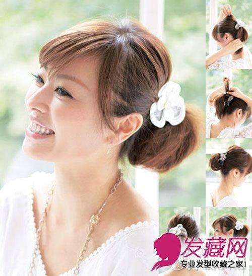 教你短发怎么扎 化身俏丽短发公主(6)图片