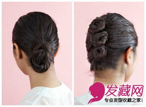长发发型新扎法 优雅别致复古盘发
