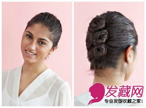 长发发型新扎法 优雅别致复古盘发(5)
