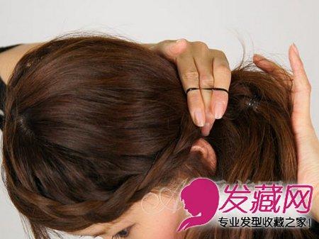 9款内扣梨花头发型 简单的齐刘海造型设计 →除了刘海编发 短发