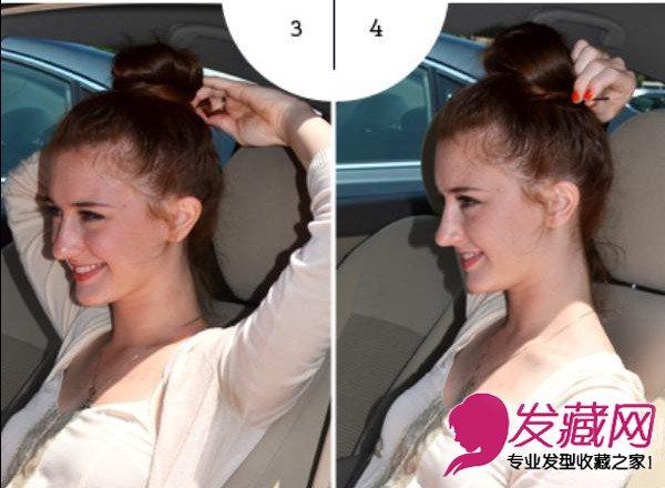 > 4款简朴便捷发型 一分钟轻松完成(7)  导读:3 两部门的头发缠绕成一图片