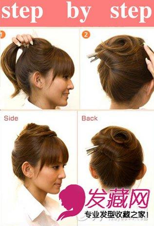 高马尾辫扎法图解 可爱刘海马尾扎发发型(5)
