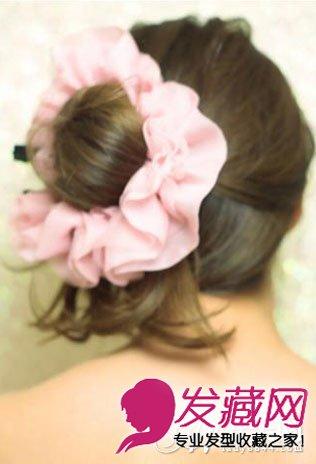 高马尾辫扎法图解 可爱刘海马尾扎发发型(9)