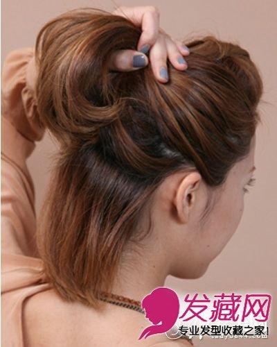> 齐肩短发怎么扎 刘海发型扭出的造型也很悦目(5)  导读:步骤四:用手