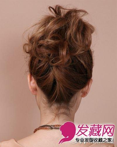 齐肩短发怎么扎 刘海发型扭出的造型也很悦目(9)
