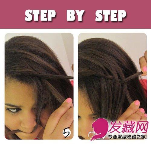 刘海编发教你长发发型的扎法(3)