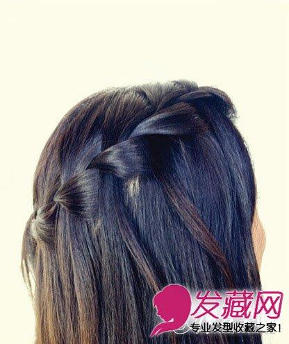 刘海编发教你长发发型的扎法(5)图片