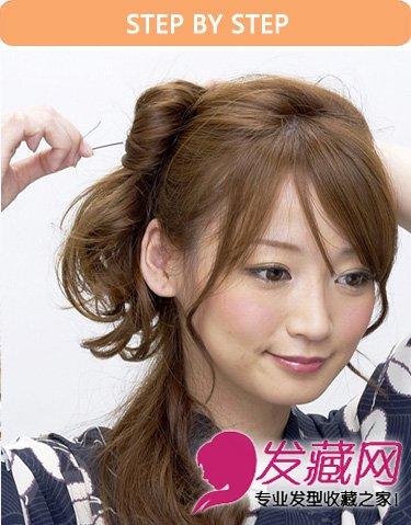 最流行的半扎式花苞头发型(5)