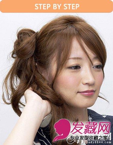 最流行的半扎式花苞头发型(6)