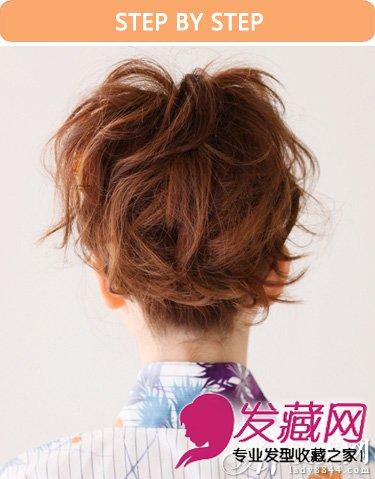 丸子头的扎发发型设计 俏皮发型五步搞定(8)图片