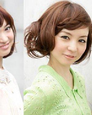 甜蜜韩式麻花辫编发步骤一: 把波波头短发梳整齐.