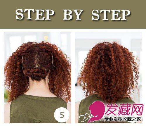 【图】中长发波波头 玉米烫卷发发型(3) (500x431)-过肩发型 没有短图片