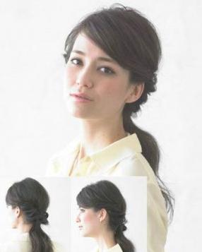 韩式发型扎法 简朴显老练知性的低马尾发型