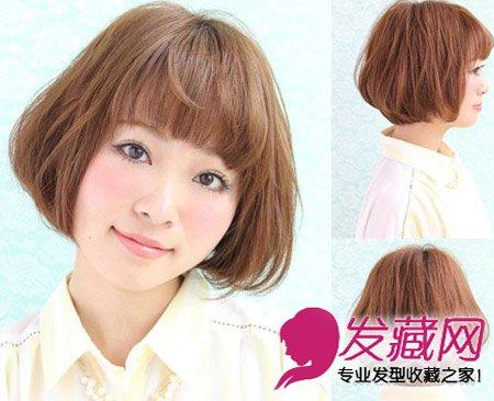 齐刘海发型中发修出可爱小脸(4)