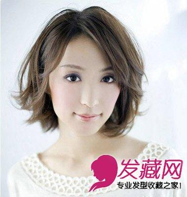 内扣齐刘海搭配多层次碎发 女生气质中短发发型