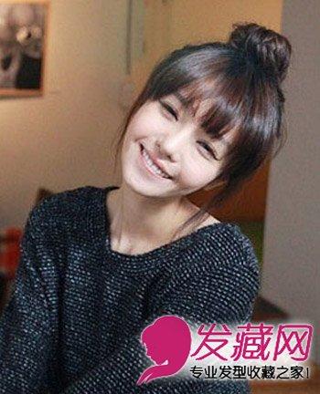 导读:俏皮可爱的丸子头发髻,百搭的简单可爱 女生发型 ,碎刘海发丝
