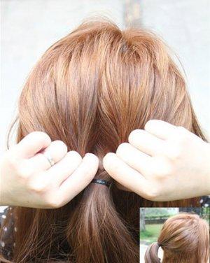 扎好的马尾发型设计图片