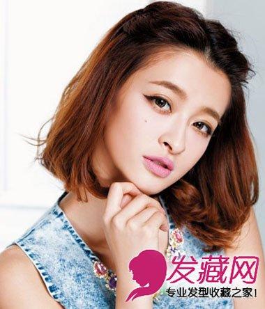 学会它短发也能美过长 →8款简单编发发型 短发也可以让头顶自然蓬松
