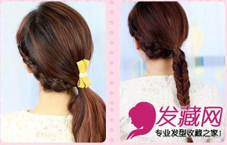 简单马尾辫编发图解 清晰女生马尾发型设计(3)
