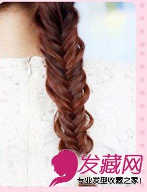 简单马尾辫编发图解 清晰女生马尾发型设计(5)