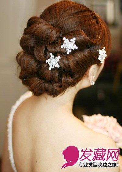 打造完美气质新娘盘发 发型(5)