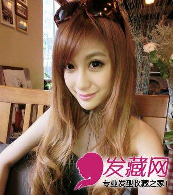 中长发梨花头甜美 最热韩式齐刘海发型(7)图片