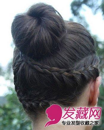 8款好看韩式丸子头扎发 长发不再是累赘(2)图片
