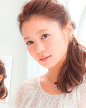 清纯无刘海公主头扎发发型