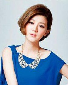 短发发型采用三七分刘海 引爆短发的不对称革命