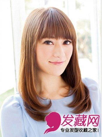 根据脸型选发型 轻薄细碎的齐刘海最好看(2)